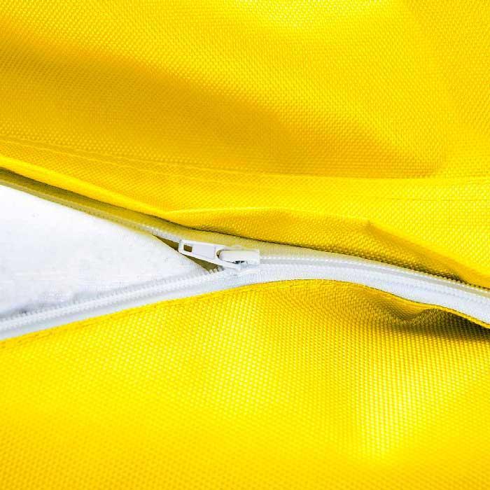 Ultra pratique, le pouf géant extérieur Jaune BiG52 IRON RAW est déhoussable.