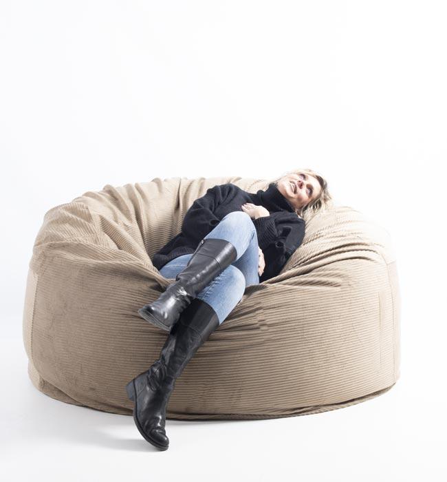 Pouf géant canapé XXXL BiG52 TiTAN avec tissu velours côtelé