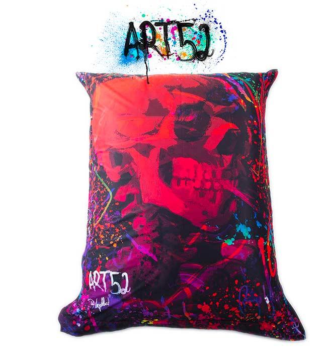 Pouf Géant ART52® - Red Skull, M1 Anti-Feu Norme ERP