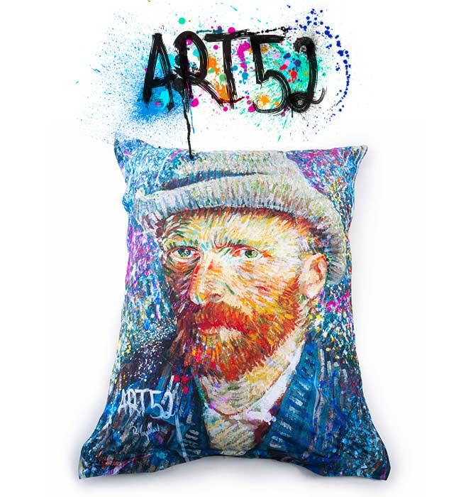 Pouf Géant ART52® - Van Gogh POP, M1 Anti-Feu Norme ERP