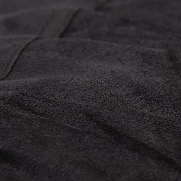 pouf géant noir TiTAN est en microsuede