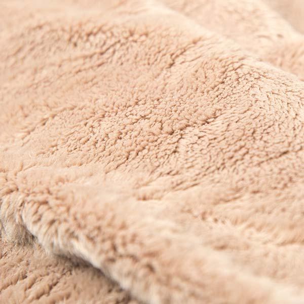 pouf géant beige TiTAN est en fourrure polaire à poil court