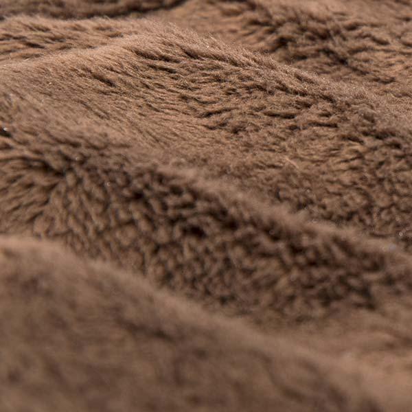 pouf géant marron TiTAN est en fourrure polaire à poil court