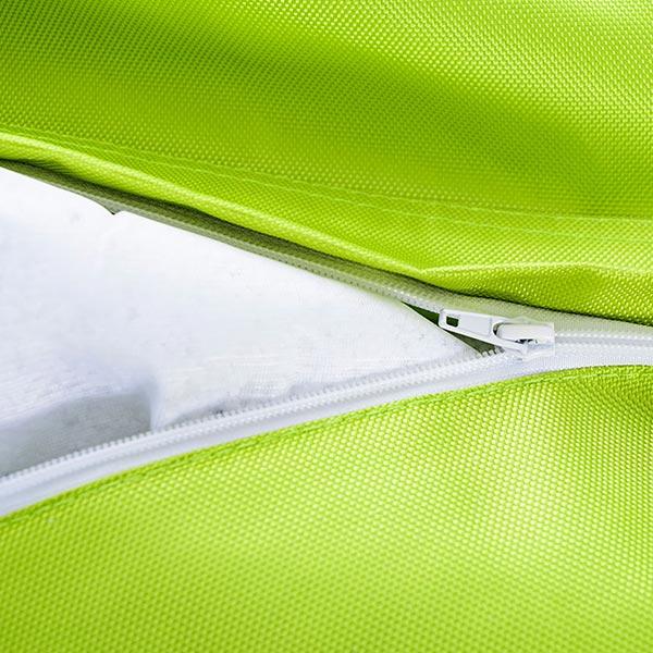 Ultra pratique, le pouf géant extérieur vert lime BiG52 IRON RAW est déhoussable.